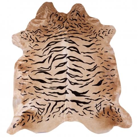 Tan Tiger Print Cowhide Rug Doris And Boris